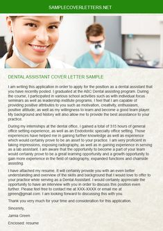 cover letters cover letter sample and letter sample on pinterest the dental assistant cover letter - Is Cover Letter Important