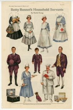 75.3004: Betty Bonnet's Household Servants | paper doll | Holidays and Celebrations | More | National Museum of Play Online Collections | The Strong