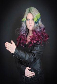 Awesome Rainbow Hair Color Ideas 2019 Latest Hair Color, Cool Hair Color, Hair Colors, Unique Hairstyles, Messy Hairstyles, Coloured Hair, Awesome Hair, Rainbow Hair, Trendy Hair