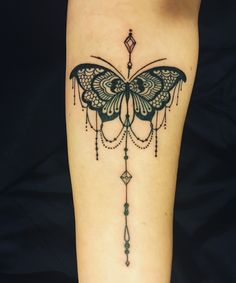 Lace and chandelier style butterfly