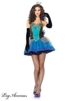 Leg-Avenue-Costume-3-Pieces-Paon-Princesse-Bleu-Large