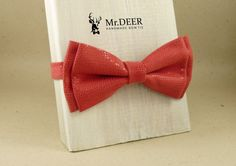 Pink with Ddots Bow Tie - Ready Tied Bow Tie - Adult Bow Tie - Mens bowtie - Groomsman, Wedding Bow Tie - Gift for Him - Mr.DEER