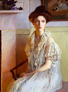 "Lilla Cabot Perry, ""Lady with a Bowl of Violets"""
