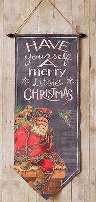 Santa Wall Hanging Canvas