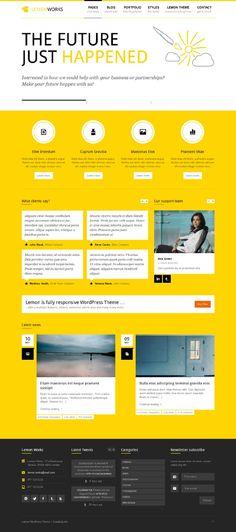 Lemon, WordPress Yellow Portfolio Business Theme