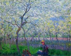 An Orchard in Spring 1886 Claude Monet