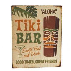 Vintage Tiki Bar Sign
