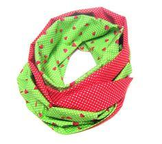 "Circle scarf "" sweet strawberries""."