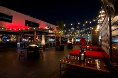 Best rooftop patios: Proof Bar + Patio Another Midtown mainstay, Proof is perched atop Reef Restaurant and is known for its large deck and uber-loungy vibe along with great views of the downtown skyline. Rooftop Lounge, Rooftop Wedding, Rooftop Terrace, Rooftop Dining, Bar Lounge, Houston Bars, Houston Tx, Proof Bar, Rose Street