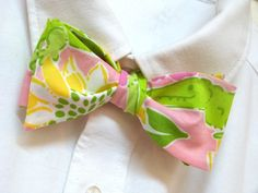 Mens Lilly Pulitzer Bow Tie Handmade Croc by LWhelanDesigns, $38.00