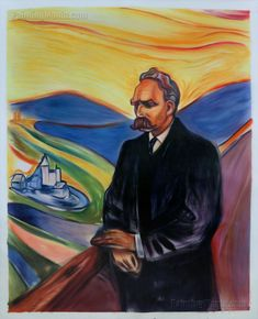 Friedrich Nietzsche by Edvard Munch