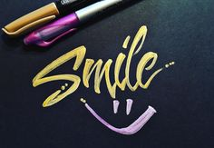Smile. Only takes a second to be nice and make someone smile. Never know what some people are dealing with. #smile #nice #letters #lettering #handlettering #handmadefont #handlettered #handstyle #typography #typespire #typematters #type #typegang #font #thedailytype #goodtype #art #arte #metallic #luchador71