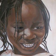 schilderij portret wereldkind afrika
