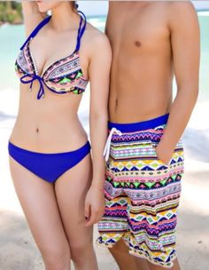 Matching couples bathing suits!!