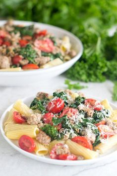 If you haven't tried mustard greens before, now you've got to. This recipe is sooo good! It's for a quick and easy pasta dish featuring spicy mustard greens, Italian sausage and grape tomatoes.