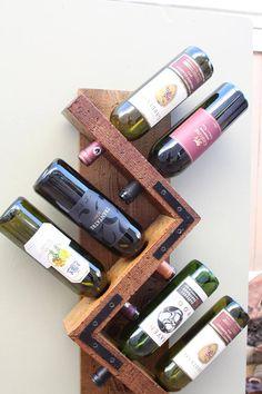 Estante del vino pared del vino estante botellero rústico