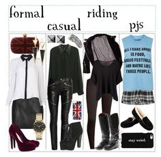"""Padfoot's Style Four Ways"" by magicalmarauders ❤ liked on Polyvore featuring moda, River Island, A.L.C., Waterford, Alexander McQueen, Vince, H&M, IRO, Boohoo y Yves Saint Laurent"