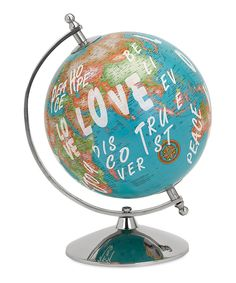 Look at this Graffiti Globe Décor on #zulily today!