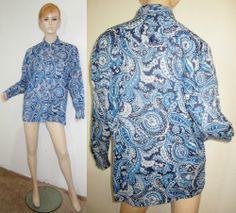 RALPH LAUREN 100% Cotton Gauze Blue Paisley Print Button Down Shirt Blouse L...http://stores.shop.ebay.com/vintagefluxed