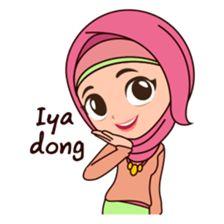 15 Best Sticker Images Line Sticker Hijab Cartoon Stickers