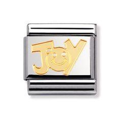 Nomination JOY (writing) Classic Gold Italian Charm