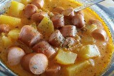 Kartoffelgulasch mit Wiener Würstchen 1