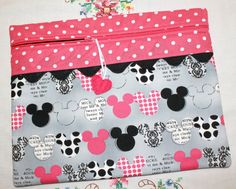 Pink Black Mickey Minnie Cross Stitch Sewing by sewmuch2luv