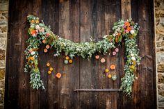 Chesterbrook Wedding Florist -A Garden Party florist - Duportail House - JPG Photography - Events by Renee - outdoor wedding - fall wedding - succulents - garland - dahlias - eucalyptus - wildflower wedding
