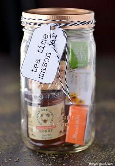 Tea Time Mason Jar Gifts - DIY Gift World