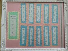 Wedding setting plan all home made xx