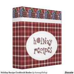 Holiday Recipe Cookbook Binder