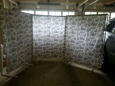 Created these screens of pvc pipe for indoor craft shows!