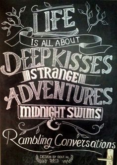 Life is all about. Chalkboard Typography. Rolf Dingerink #typography #Fonts #type