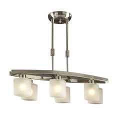 PLC Lighting 649 SN 6 Light Wyndham Island Light, Satin Nickel