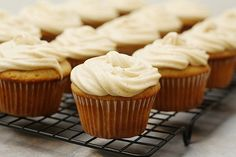 Banana Cupcakes with Cinnamon Cream Cheese Frosting (from A Dash of Sass)