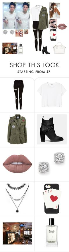 """""""At a cafe with Harry Holmes Chapel"""" by tiffany-london-1 ❤ liked on Polyvore featuring Topshop, Monki, Velvet by Graham & Spencer, Coach, Lime Crime, Bloomingdale's, Forever 21, Kate Spade and Bobbi Brown Cosmetics"""