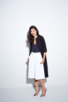 Caroline Issa's Guide To Every Single Item That Makes Up A Complete Wardrobe #refinery29  http://www.refinery29.com/caroline-issa-nordstrom#slide-8  Great slip, great culottes, great robe coat. Just great!