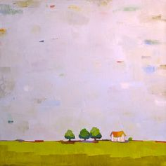 The Gift to Be Simple VIII. Oil Painting 24x24 by Donna Walker.