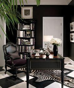 Charmant Ralph Lauren Black Office White Houses, Decorating Office, Home Office  Decor, Office Ideas
