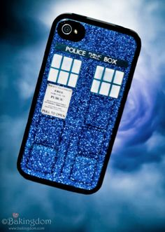 Make your own Tardis IPhone cover <3  I have to get a clear case!!!