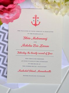 Anchors Away Wedding Invitation  JPress Designs by JPressDesigns