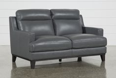 Leather Loveseat, Loveseat Sofa, Couch, Sofas, Grey Leather, Smooth Leather, Camper Furniture, Modern Design, Design Elements
