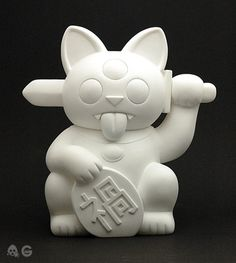 OMG The Misfortune Cat by Ferg. Is he an american or brit? I just stumbled on this. Lets face it, gargamel did it first as far as I know. This looks like a mash up of a baikin and a rxh fortune cat. feel free to comment if i am somehow wrong on the time line.