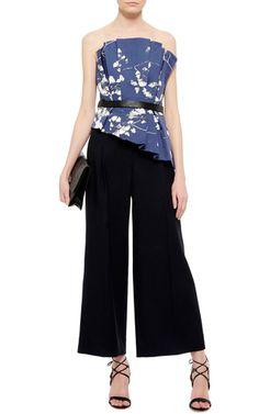Printed Pleated Osaka Corset by JOHANNA ORTIZ Now Available on Moda Operandi