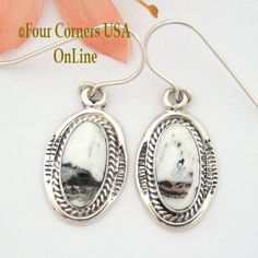 Four Corners USA Online - White Buffalo Oval Turquoise Sterling Earrings Navajo Artisan Burt Francisco NAER-1497, $110.00 (http://stores.fourcornersusaonline.com/white-buffalo-oval-turquoise-sterling-earrings-navajo-artisan-burt-francisco-naer-1497/)