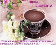 Dimineata... | citate si mesaje/iuliapad. Good Morning, Tea Cups, Tableware, Desserts, Morning Quotes, Ecards, Food, Buen Dia, Tailgate Desserts