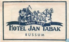 Suikerzakje zakjes  Hotel Jan Tabak