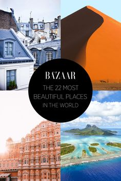 The 20 most beautiful places in the world: pin this for later vacation inspiration.
