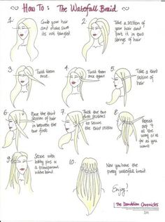 All of the other tutorials on how to do a waterfall braid confused me. But this one for some reason was easy to understand and I can now do a really good waterfall braid. I recommend this tutorial :) Pretty Hairstyles, Braided Hairstyles, Wedding Hairstyles, Homecoming Hairstyles, Hairstyles Videos, Wedding Updo, Hairstyles Haircuts, Hair Day, Your Hair