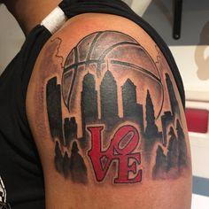 cool Top 100 Basketball Tattoos - http://4develop.com.ua/top-100-basketball-tattoos/ Check more at http://4develop.com.ua/top-100-basketball-tattoos/